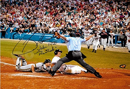 Sid Bream 1992 The Slide Autograph Replica Poster - Braves