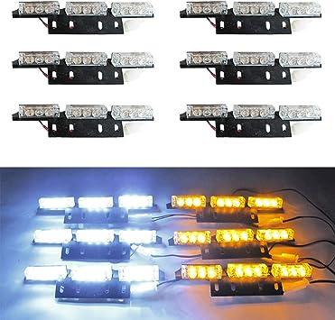 54 LED GREEN /& WHITE Emergency Warning Strobe Hazard Lights Bars Deck Dash Grill