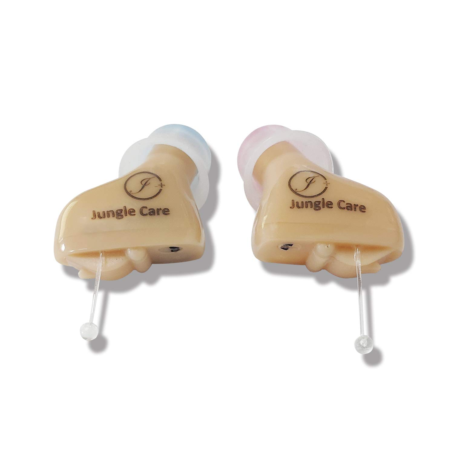 Jungle Care Audiologist Designed Digital CIC Hearing Amplifier PSAP - Completely Invisible in Ear Canal, Noise Reduction, Feedback Cancellation, Personal Sound Amplifier (Pair - Both Ears)