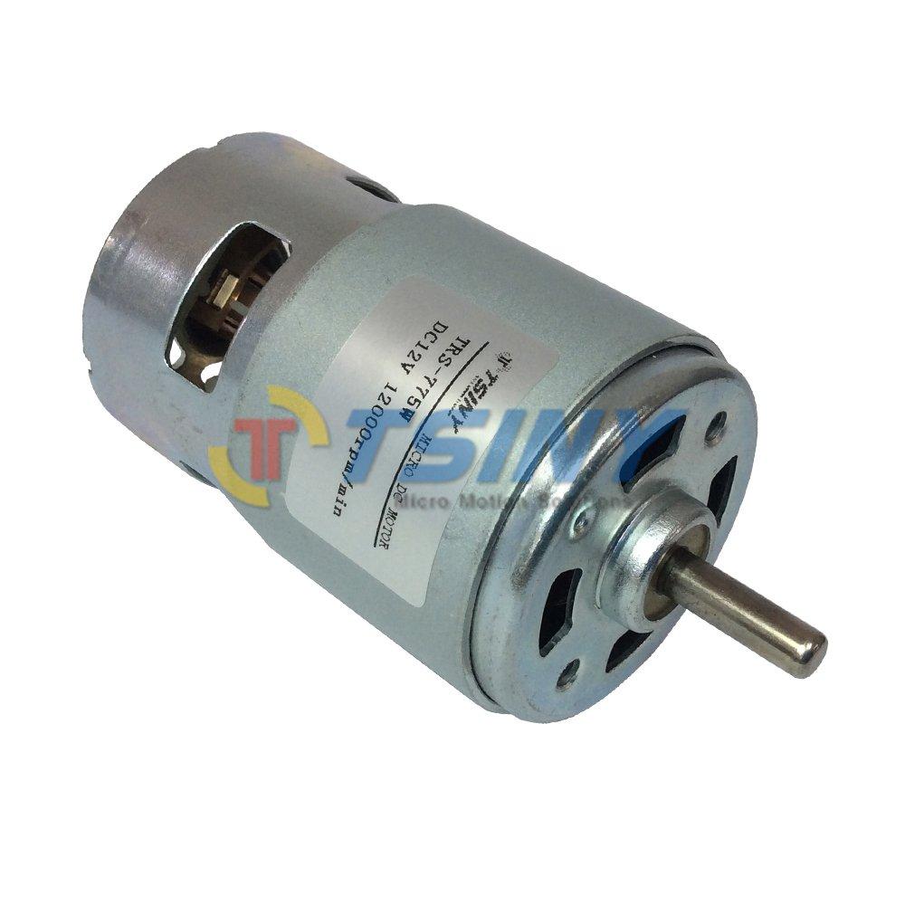 High Torque Permanent Magnet DC 12V High Speed 12000 RPM Brush Small ...