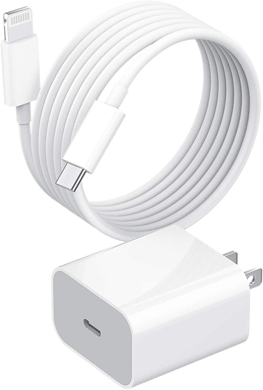 Apple MFi Certified,USB C Fast PD Wall Charger Block with 5ft Lightning Cable 20w Power Charging Adapter Quick Box for Ipad ARI iPhone 11 12 PRO MAX Mini XS XR SE2 8Plus Airpod Cord Samsung Type Plug