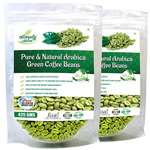 Simply Nutra Unroasted Arabica Grade A Green Coffee Beans For
