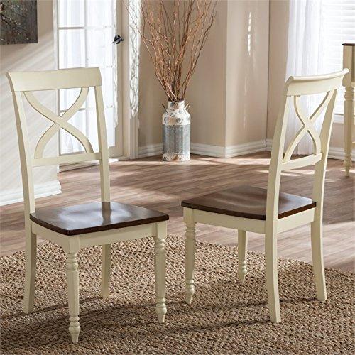 Ashton Dining Room Chair (Baxton Studio Ashton Cottage Dining Chair in Cream (Set of 2))