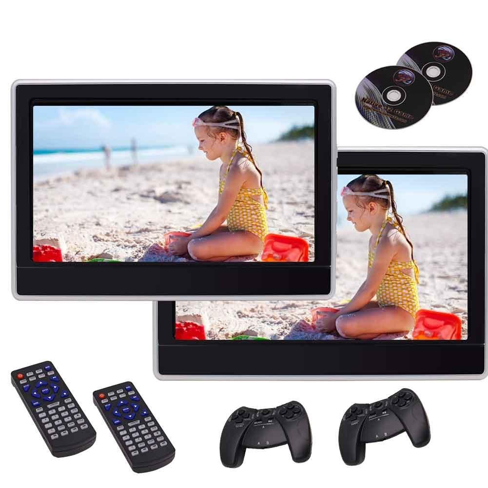 2PCS 11.6インチ電話/ SD /ワイヤレスゲーム/ HDMIポート+リモートコントロール用タッチキーのカーリアシートメディアプレーヤータブレットスタイルサポートFM / IR / USB充電と車のヘッドレストモニターDVDプレーヤー取り外し可能 B0787YZ71G