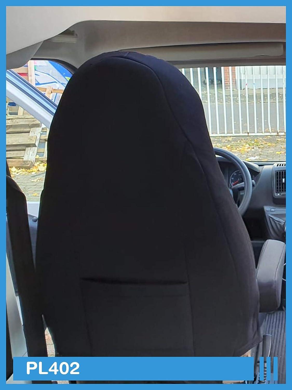 Ma/ß Sitzbez/üge kompatibel mit FIAT Ducato 250 Fahrer /& Beifahrer ab BJ 2006 Farbnummer PL402