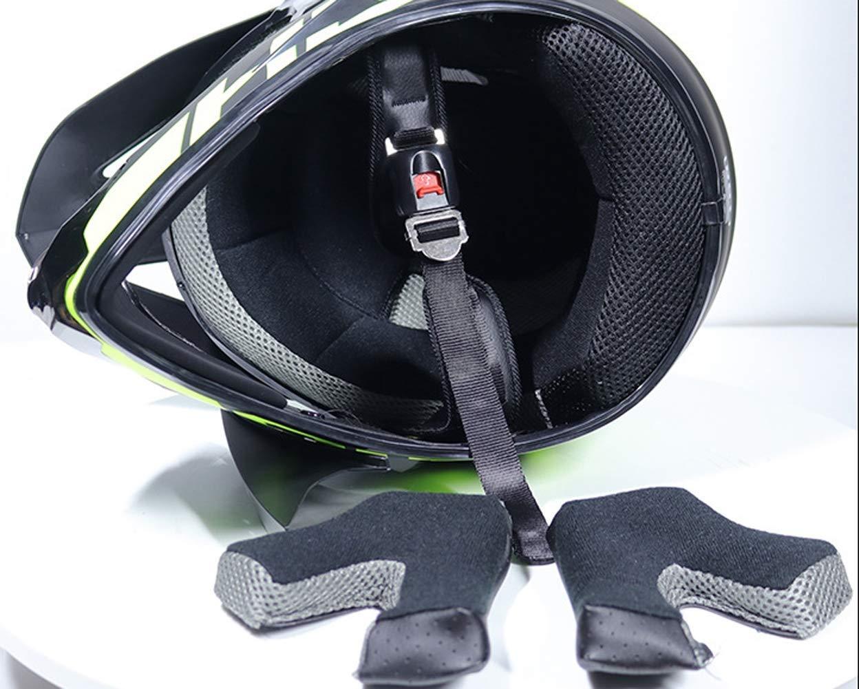 - Negro y Azul Jackson Wang Casco de Moto Casco de Motocross con Gafas Casco de Carretera Casco de MTB Integral para Hombres Protecci/ón de Seguridad para Mujeres,M Casco de Motocross 5 Piezas