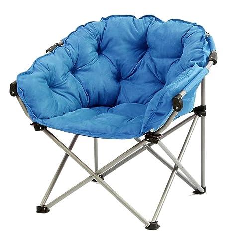 Blue Moon Chair Creative Lazy Suede Fabric Tumbonas ...