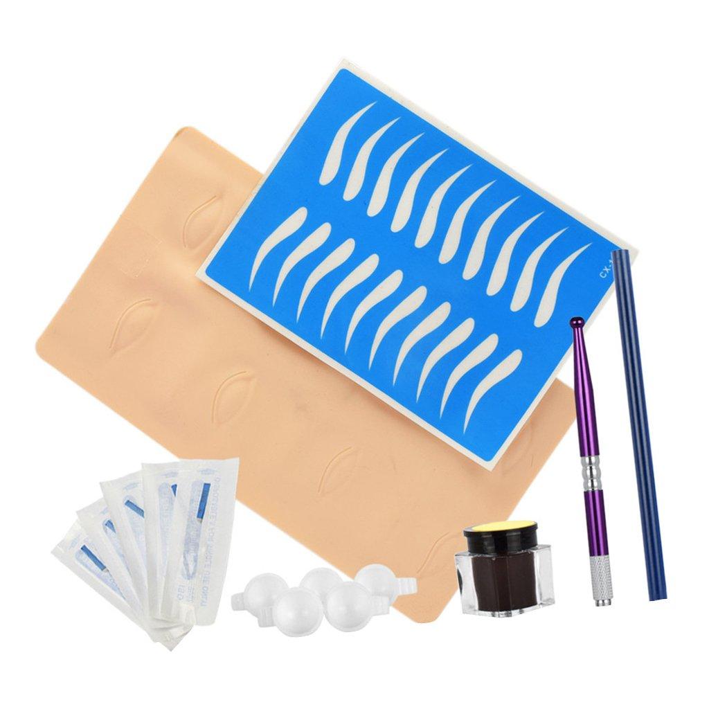 Non-brand ceja manual permanente piel práctica agujas lápices microblading pen set - Oro