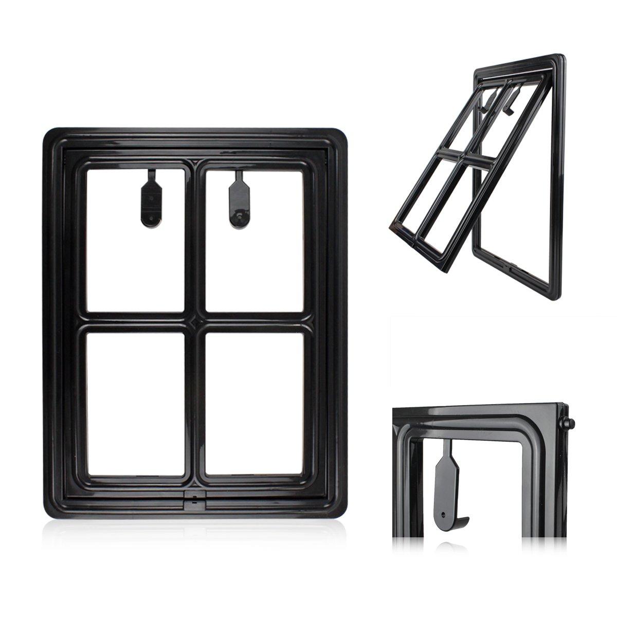 """Petleso Dog Door Screen - Pet Door for Screen Pet Door Lockable for Small to Large Pets - Inner 12""""×15.5"""" Black"""