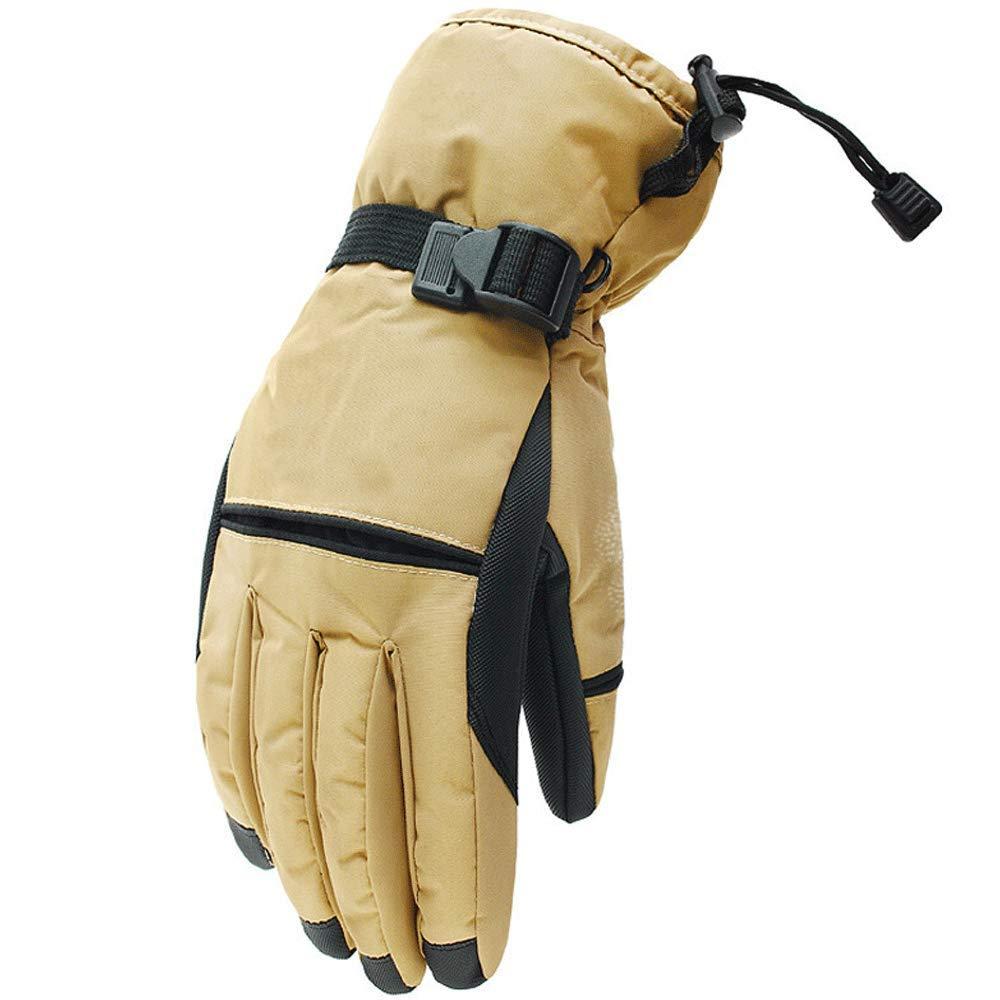 KLEDDP Winter Herren Skischuhe Dicke Warme Winter Outdoor Reiten Wandern Wasserdicht Winddicht Anti-Rutsch-Handschuhe Handschuhe für Männer
