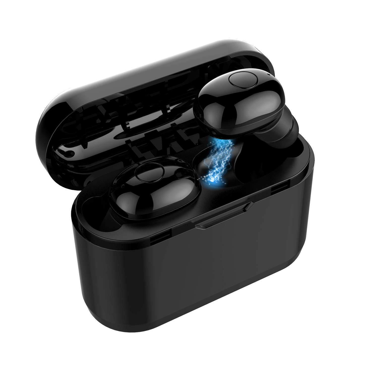 Wireless Bluetooth Earbuds, XHH Latest Bluetooth 5.0 Headphones with Loud Stereo Sound, Rich Bass, Mini in-Ear Binaural Call Wireless Earphones Headset with Built in Mic for iPhone, Samsung and More