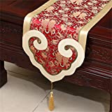 Royal- New Chinese Style Silk Table Runner Bed Flag Simple Modern Tablecloth ( Size : 35300cm )