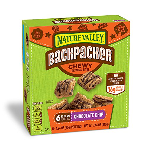 Nature Valley Backpacker Chocolate Chip Chewy Oatmeal Bites 7.44 oz. P... - 61Sii59DPkL