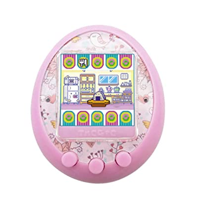 Zhaowei Game Machine Electronic Virtual Cyber Elves of Pet Color Screen Pet Game Toy Support Chinese and English (Pink): Toys & Games