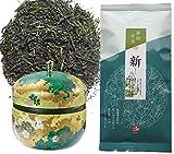 Japanese Sencha Green Tea 100g (3.52oz) x 1 + Japanese Tea Canister (Green) x1 Review