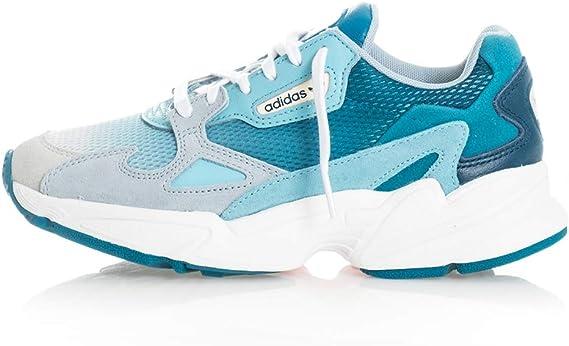cáncer arrebatar yermo  adidas Originals Falcon - Zapatillas deportivas para mujer, gris-azul- turquesa, 9.5 US: Amazon.com.mx: Ropa, Zapatos y Accesorios