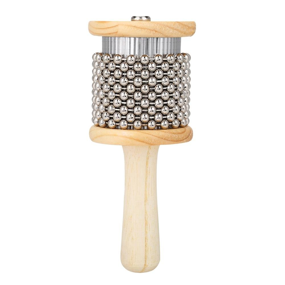 Wooden Cabasa, Wooden Hand Shaker Cabasa Percussion Instrument Small Size for Student Children Kids Dilwe Dilwendyx79wt04