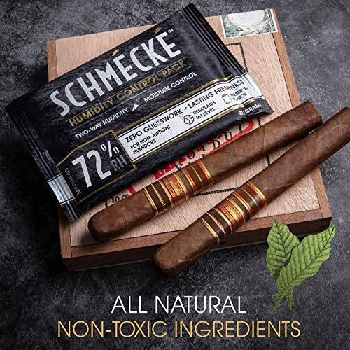 Schmécké 72% RH Cigar Two-Way Humidity Control 80 Grams x 100 Pack - Zero Guesswork - Regulate & Stabilize Humidor RH Level by Schmécké (Image #4)