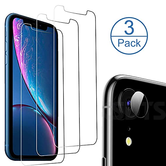 buy popular e374f d11c5 Glass Screen Protector Designed for iPhone XR (6.1