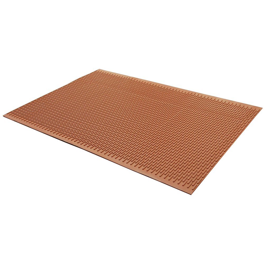 Rubber-Cal 03-161-RD-W-302''Safe-Grip'' Slip-Resistant Traction Mats, 34'' x 2' x 1/4'', Red Rubber Runner