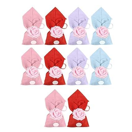 BESTONZON 10 bolsas de caramelos coloridas rosas bonitas y ...