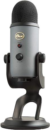 Blue Microphones Yeti Usb Mikrofon Für Aufnahme Und Streaming Auf Pc Und Mac Verstellbares Stativ Plug Und Play Schiefergrau Musikinstrumente