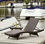 Adjustable Chaise Lounge – This Outdoor Chair Is the Perfect Lounger for Your Patio, Backyard, Garden, or Poolside – This Reclining Furniture Is Made of Woven Wicker – Gift! Review