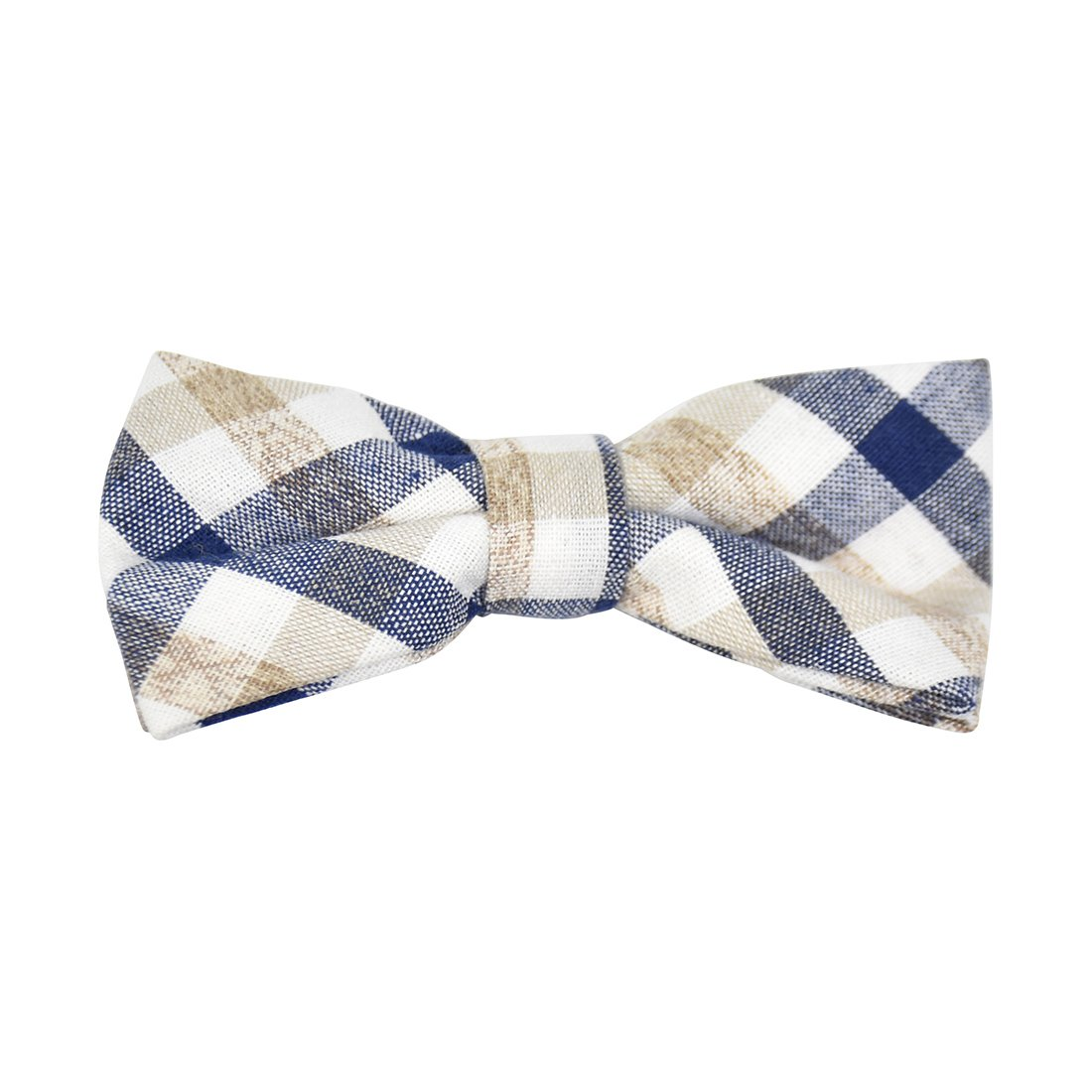 Checkered Cotton Bow Tie with Metal Clip DaCee Designs Accessories AGBT0031CX