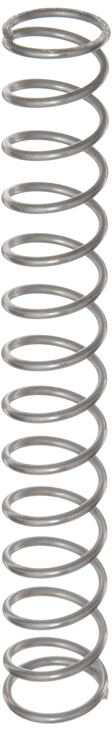 Compression Spring Stainless Steel Metric 17.6 mm OD 1.6 mm Wire Size 44.6 mm Compressed Length 165 mm Free Length 88.21 N Load Capacity 0.73 N mm Spring Rate Pack of 10