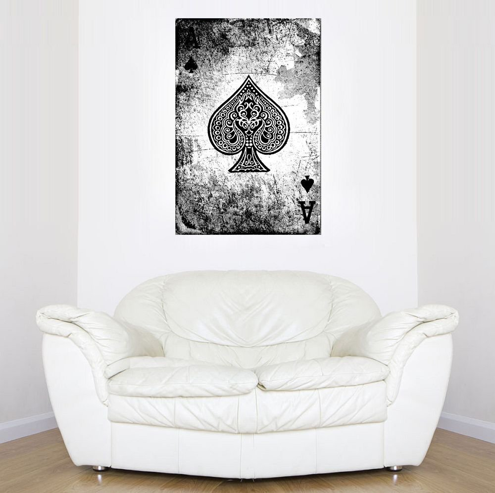 Startonight Leinwandbilder Poker Ace von Pica, Pica, Pica, Doppelansicht Überraschung Modernes Dekor Kunstwerk Gerahmte Wand Kunst 100% Ursprüngliche Fertig Zum Aufhängen 80 x 120 cm 04da70