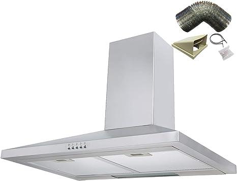 Sia ch71ss 70 cm acero inoxidable chimenea campana extractor ventilador + 3 M): Amazon.es: Grandes electrodomésticos
