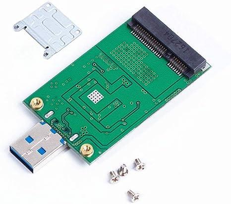 Adaptador de SSD mSATA a USB 3.0 con soporte, mini SATA uso como ...