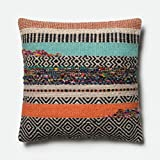Loloi P0432 Wool and Cotton Pillow Cover w/Down Fill