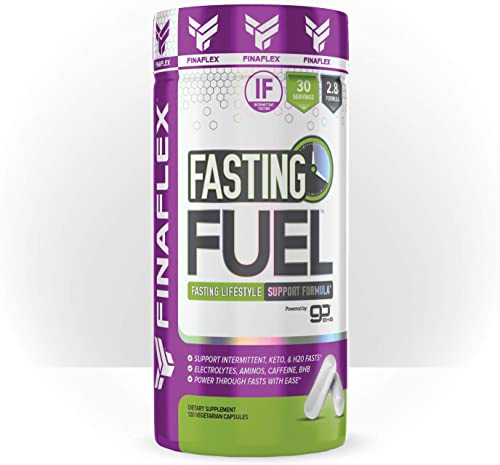 Fasting Fuel Support Intermittent, Keto, and Water Fasting, Electrolytes, Aminos, Caffeine, BHB, Power Through Fasts with Ease 120 Capsules