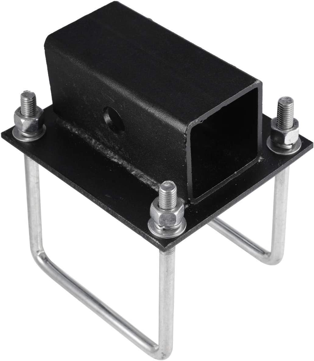 AUXMART RV Bumper Hitch Receiver 2 inches Adapter Fits for a Variety of RV Styles with 4 x 4 Square Continuous Welded RV Bumpers
