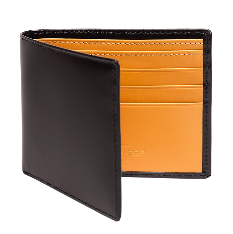 ETTINGER / エッティンガー レザービルフォールド ウォレット 二つ折り財布 - ブラック/ロンドンタン(内側) B00P9L5FJQ
