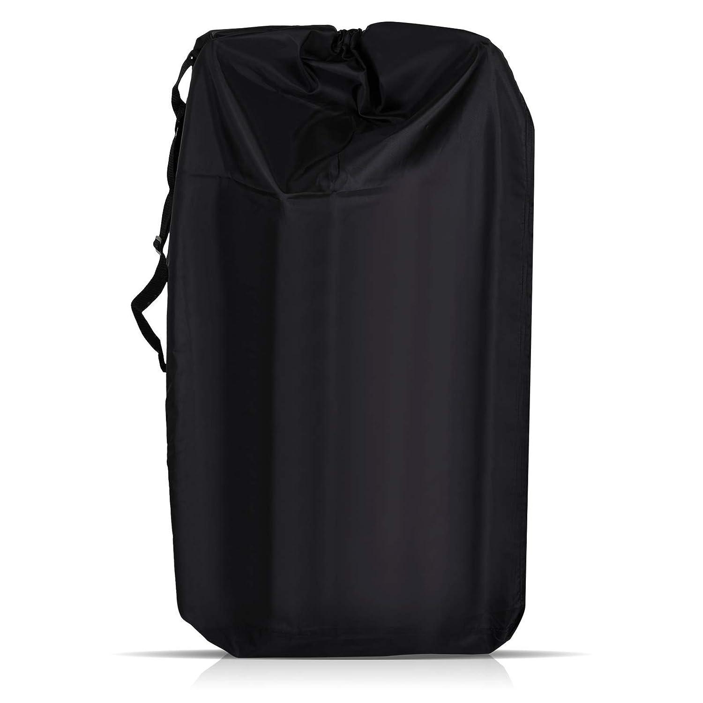 LIHAO Stroller Travel Bag Waterproof Gate Check Storage Bag Car Seat Bag for Air Travel (Black)