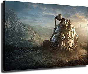 Fallout 4 Canvas Painting Posters and Print Murals, Used for Home and Living Room Decoration, Living Room Wall Decorations (Framed-Ready to Hang,12x18 inch)