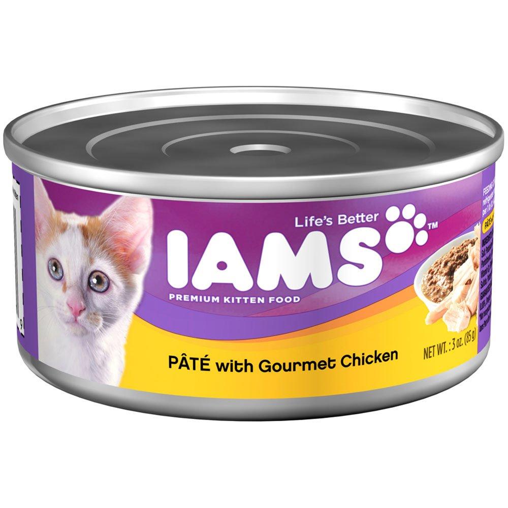 IAMS Pate Kitten Wet Cat Food Chicken 3 oz Pack of 24 Amazon
