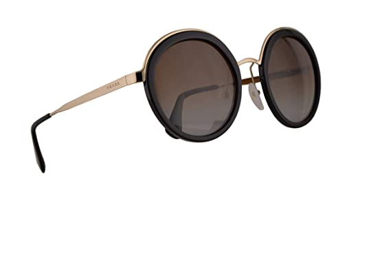 2dd0b838c271 Amazon.com  Prada PR50TS Sunglasses Black w Polarized Light Grey ...