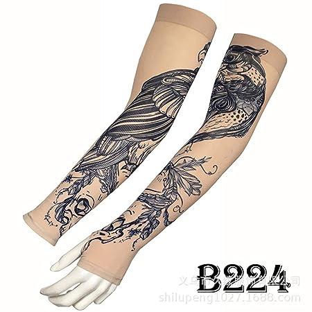 tzxdbh Manga de Hielo para Tatuaje Brazo de Flor Masculina ...