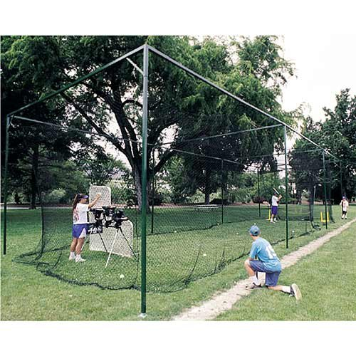 ATEC Free-Standing Batting Cage Net (Long Life #30, 70 Feet) (Freestanding Batting Cage)