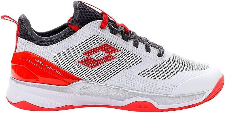 Zapatillas Pádel Hombre LOTTO Mirage 200 Cly. White/Red. Talla 41: Amazon.es: Zapatos y complementos