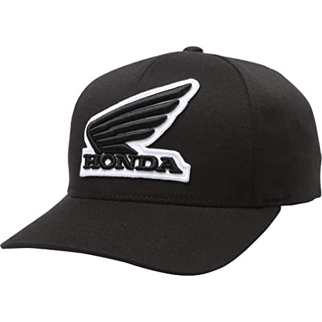 Amazon.com  Fox Racing Honda Flexfit Hat-Black-L XL  Fox Racing ... bb2918f4f64