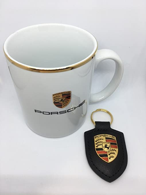 Taza de Porsche Color Blanco 250 ml con llavero negro ...
