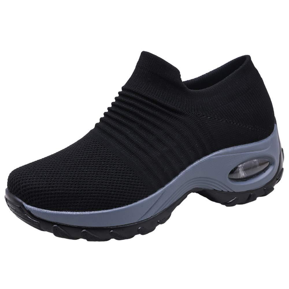 Zapatos Deporte Mujer Zapatillas Deportivas Correr Gimnasio Casual Zapatos para Caminar Mesh Running Transpirable Aumentar Más