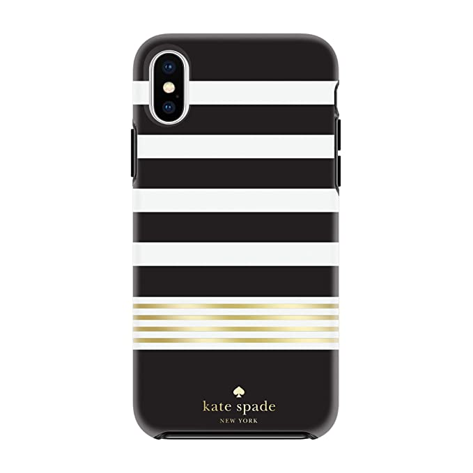 huge selection of f01a0 a7a80 Kate Spade New York Phone Case | for Apple iPhone X and 2018 iPhone Xs |  Protective Hardshell Phone Cases with Slim Design, Drop Protection - Stripe  2 ...