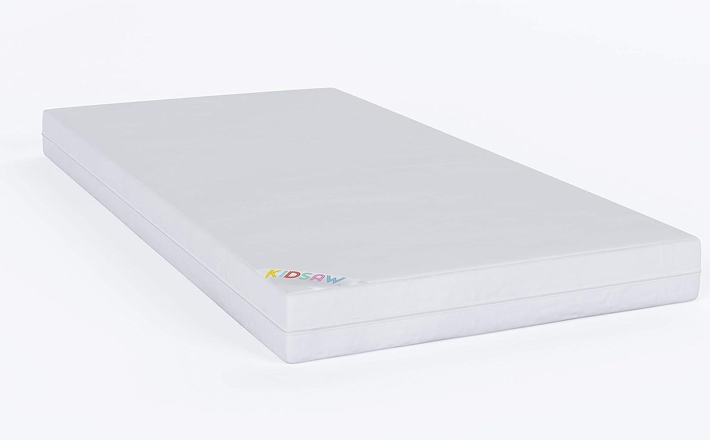 Bambini Kidsaw 70 x 140 cm, con materasso, Design di sicurezza), Bianco
