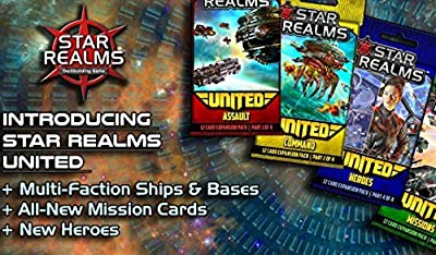 Star Realms: United - complete set of all four mini expansions (Assault, Command, Missions, Heroes) by Star Realms