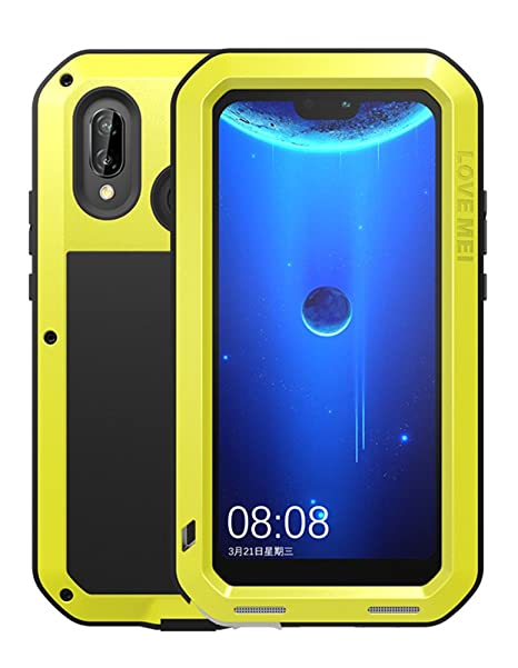 info for 866b3 51de4 Waterproof Case for Huawei nova 3e (5.84 inch, P20 lite), LOVE MEI Brand  Shockproof Dustproof Powerfull Aluminum Metal with Tempered Glass Cover ...
